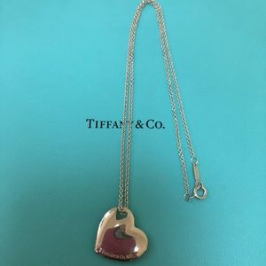 🔴Authentic TIFFANY & CO heart ❤️ Necklace 🔴❤️